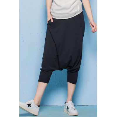 Twin Pocket Tapered Capri Pants