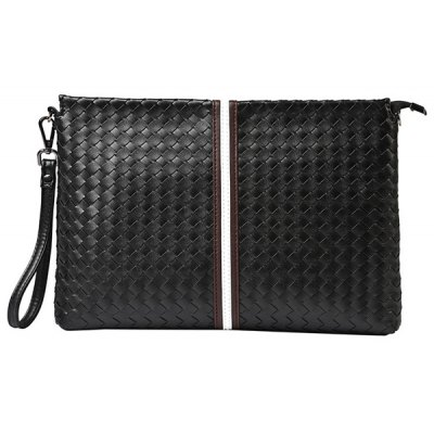 Weaving Design Clutch Bag For Men