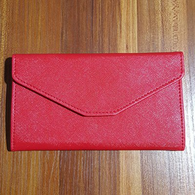 Simple Solid Color and Cover Design Clutch Wallet For Women