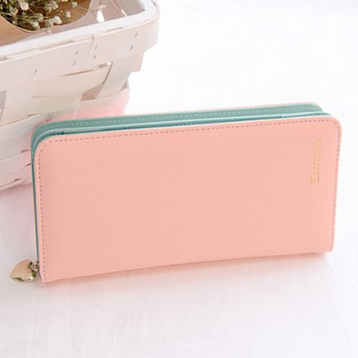 Candy Color Design Clutch Wallet For Women