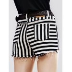 Stylish Striped Denim Shorts For Women for sale