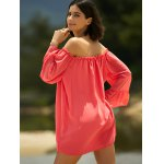 best Sweet Cold Shoulder Ruffle Sleeve Dress For Women