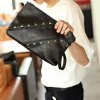 cheap Casual Black Color and Metal Design Clutch Bag For Men