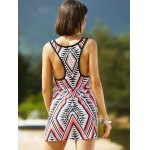 Stylish U Neck Sleeveless Geometric Print Women's Dress deal