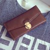 best Retro Push Lock and PU Leather Design Wallet For Women