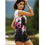 cheap Casual Round Neck Tie-Dyed Women's Tank Dress