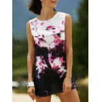 Casual Round Neck Tie-Dyed Women's Tank Dress