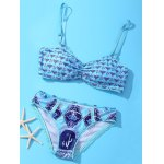 Stylish Spaghetti Strap Tribal Print Women's Bikini Set