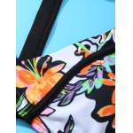 Trendy Spaghetti Strap Floral Print Hollow Out Women's Bikini Set deal