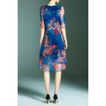 cheap Floral Layered Dress
