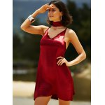 Stylish Cami Pure Color Satin Women's Dress for sale
