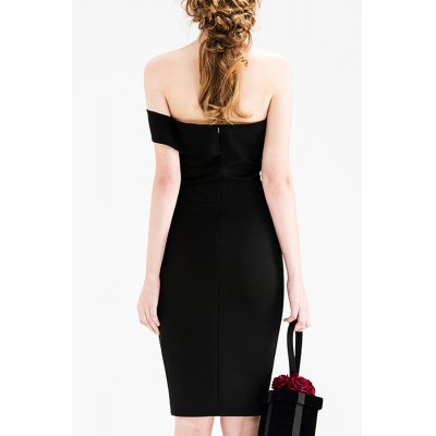 Off The Shoulder Slit Pencil DressDesigner Dresses<br>Off The Shoulder Slit Pencil Dress<br><br>Style: Sheath<br>Occasion: Cocktail &amp; Party<br>Material: Polyester,Spandex<br>Composition: Outer Composition:95% Polyester,5% Spandex&lt;br&gt;Lining Composition:97% Polyester,3% Spandex<br>Dresses Length: Mini<br>Neckline: Off The Shoulder<br>Sleeve Length: Sleeveless<br>Pattern Type: Solid<br>With Belt: No<br>Season: Summer<br>Weight: 0.470kg<br>Package Contents: 1 x Dress
