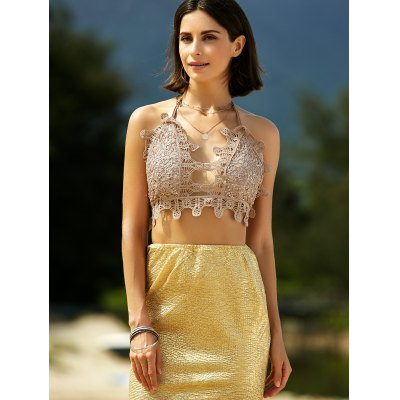 Stylish Sequined Crochet Crop Top For WomenCrop Tops<br>Stylish Sequined Crochet Crop Top For Women<br><br>Material: Polyester<br>Clothing Length: Short<br>Pattern Type: Others<br>Embellishment: Sequined<br>Style: Fashion<br>Weight: 0.370kg<br>Package Contents: 1 x Crop Top