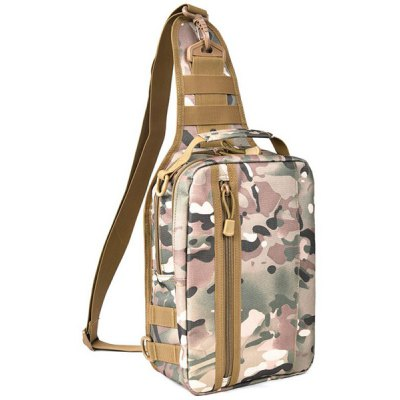 Leisure Zippers and Camouflage Pattern Design Messenger Bag For Men
