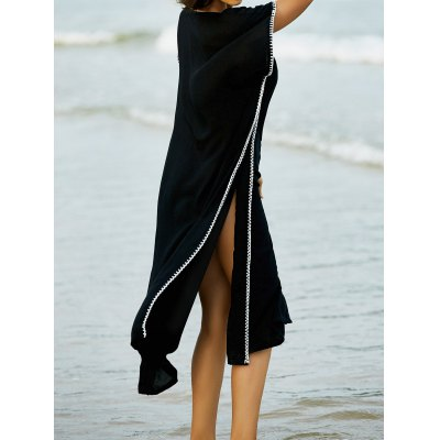 Fashion V-Neck Embroidery Cape Dress For Women