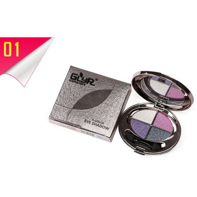 4 Colours Smooth Shimmery Diamond Eyeshadow Palette with Mirror and Brush