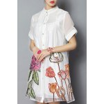 Flower Embroidered Ball Gown Dress deal