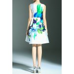 cheap Floral Print A Line Sleeveless Dress