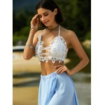 Stylish Sequined Crochet Crop Top For Women for sale
