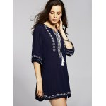 cheap Ethnic Embroidered Women's Tunic Dress