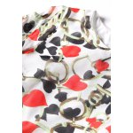 best Heart Print Side Zippered Dress