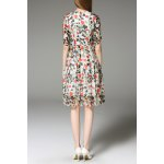 cheap Heart Print Side Zippered Dress