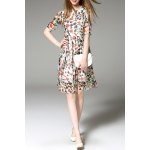 Heart Print Side Zippered Dress deal