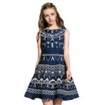 Round Collar Embroidered Tank Dress deal