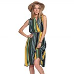 best Hit Color Striped Dress
