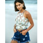Stylish Embroidered Cross Back Crop Top For Women for sale