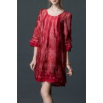 Embroidered Layered Organza Dress deal