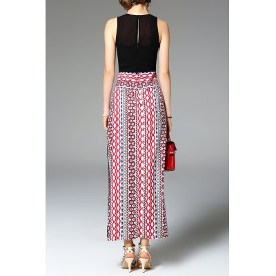 Sleeveless Color Block Print Maxi DressDesigner Dresses<br>Sleeveless Color Block Print Maxi Dress<br><br>Occasion: Casual<br>Material: Polyester,Silk<br>Composition: 30% Silk,70% Polyester<br>Dresses Length: Ankle-Length<br>Neckline: Round Collar<br>Sleeve Length: Sleeveless<br>Pattern Type: Print<br>With Belt: No<br>Season: Spring,Summer<br>Weight: 0.270kg<br>Package Contents: 1 x Dress
