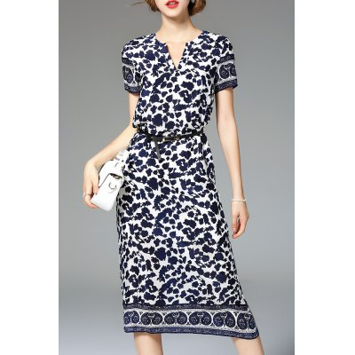 Mid Rise Printed Dress