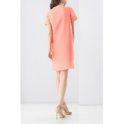 Double Pocket Solid Color DressDesigner Dresses<br>Double Pocket Solid Color Dress<br><br>Style: Casual<br>Occasion: Day<br>Material: Silk<br>Composition: 60%Linen,40%Silk<br>Silhouette: Straight<br>Dresses Length: Knee-Length<br>Neckline: Round Collar<br>Sleeve Length: Short Sleeves<br>Pattern Type: Solid<br>With Belt: No<br>Season: Summer<br>Weight: 0.320kg<br>Package Contents: 1 x Dress