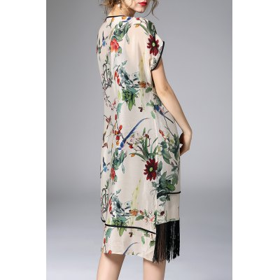 Floral Asymmetric Fringed Dress With Cami DressDesigner Dresses<br>Floral Asymmetric Fringed Dress With Cami Dress<br><br>Material: Silk<br>Composition: 100%Silk<br>Dresses Length: Mid-Calf<br>Neckline: Round Collar<br>Sleeve Length: Short Sleeves<br>Pattern Type: Print<br>With Belt: No<br>Season: Summer<br>Weight: 0.320kg<br>Package Contents: 1 x Outer Dress   1 x Cami Dress