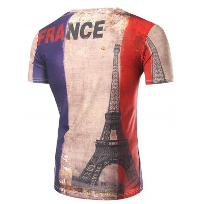 Casual Short Sleeve 3D Tower Printed T-Shirt For MenMens Short Sleeve Tees<br>Casual Short Sleeve 3D Tower Printed T-Shirt For Men<br><br>Style: Casual<br>Material: Cotton Blends<br>Sleeve Length: Short<br>Collar: Round Neck<br>Weight: 0.450kg<br>Package Contents: 1  x T-Shirt<br>Pattern Type: Print