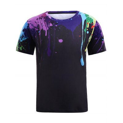 Colorful Splatter Paint Print Short Sleeve T-ShirtMens Short Sleeve Tees<br>Colorful Splatter Paint Print Short Sleeve T-Shirt<br><br>Style: Fashion<br>Material: Cotton,Polyester<br>Sleeve Length: Short<br>Collar: Round Neck<br>Weight: 0.253kg<br>Package Contents: 1 x T-Shirt<br>Embellishment: 3D Print<br>Pattern Type: Others
