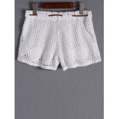 Stylish Tie Crochet Shorts For WomenShorts<br>Stylish Tie Crochet Shorts For Women<br><br>Style: Fashion<br>Length: Mini<br>Material: Spandex<br>Fit Type: Regular<br>Waist Type: Mid<br>Closure Type: Elastic Waist<br>Front Style: Flat<br>Pattern Type: Others<br>Weight: 0.370kg<br>Package Contents: 1 x Shorts   1 x Belt