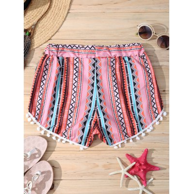 Stylish Geometric Print Elastic Waist Pompon Trim Womens ShortsShorts<br>Stylish Geometric Print Elastic Waist Pompon Trim Womens Shorts<br><br>Style: Fashion<br>Length: Mini<br>Material: Polyester<br>Fit Type: Regular<br>Waist Type: Mid<br>Closure Type: Elastic Waist<br>Front Style: Flat<br>Pattern Type: Geometric<br>Weight: 0.220kg<br>Package Contents: 1 x Shorts