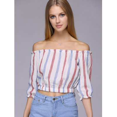 Attractive Off-The-Shoulder Colored Striped Crop Top For WomenCrop Tops<br>Attractive Off-The-Shoulder Colored Striped Crop Top For Women<br><br>Material: Cotton,Polyester<br>Clothing Length: Short<br>Pattern Type: Striped<br>Style: Fashion<br>Weight: 0.084kg<br>Package Contents: 1 x Crop Top