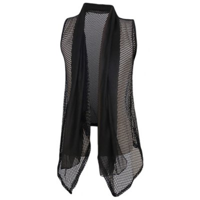 Casual Thin Mesh See-through Waistcoat For Men