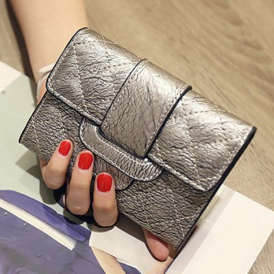 PU Leather Design Small Wallet For Women
