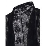 Decorative Design Mesh See-through Waistcoat For Men deal