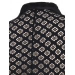 Pattern Mesh See-through Waistcoat For Men for sale