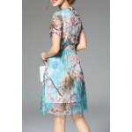 Bowknot Floral Print Dress deal