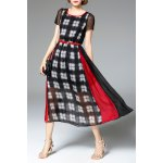 High Waisted Plaid Print Dress deal