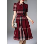Waisted Corset Checked Dress deal