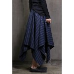 Striped Irregular Hem Long Skirt for sale