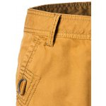 Cotton Solid Color Embroidered Multi-Pockets Zipper Fly Straight Leg Shorts deal