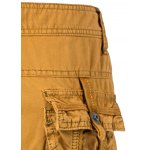 Cotton Solid Color Embroidered Multi-Pockets Zipper Fly Straight Leg Shorts for sale
